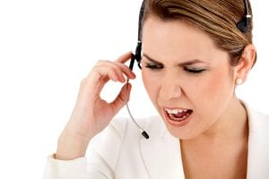 Angry customer support operator